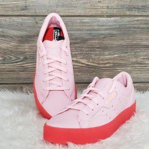 New Adidas Sleek Pink Neon Sneakers